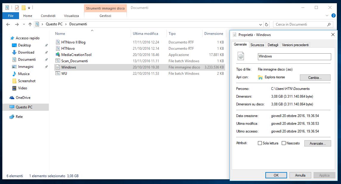 Come installare Windows 10 tramite ISO senza supporto esterno (DVD o PenDrive) 4
