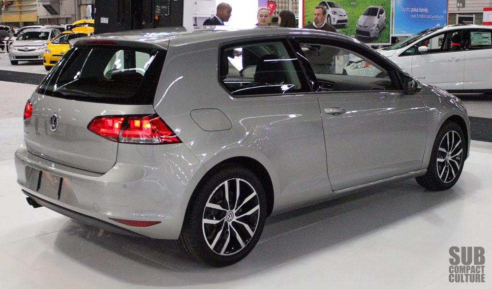 Rear shot of 2015 VW Golf