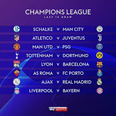 Live Streaming Undian Pusingan 16 UEFA Champions League 2018/2019