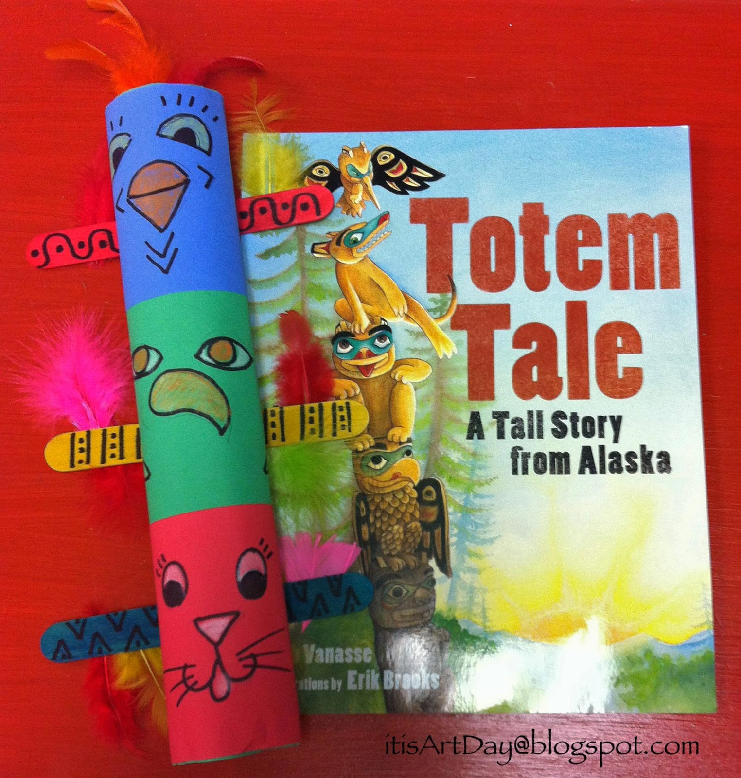 It S Art Day Colorful Totem Poles