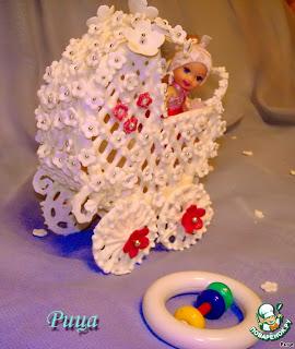 """Украшение для торта «Коляска детская» из айсинга коляска из айсинга, айсинг,  торты, торты детские, торты """"Детская коляска"""", торты на День рождения, торты на крестины, торты для малышей, блюда праздничные, блюда на День рождения, блюда на крестины, семейные праздники, Как сделать торт """"Детская коляска""""Торты ДЕТСКАЯ КОЛЯСКА - варианты рецептов и идеи оформления"""
