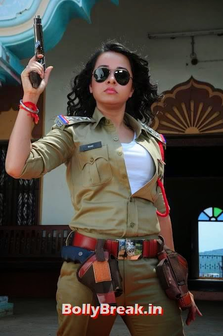 , Nisha Kothari Bullet Rani Movie Pics in Police Uniform