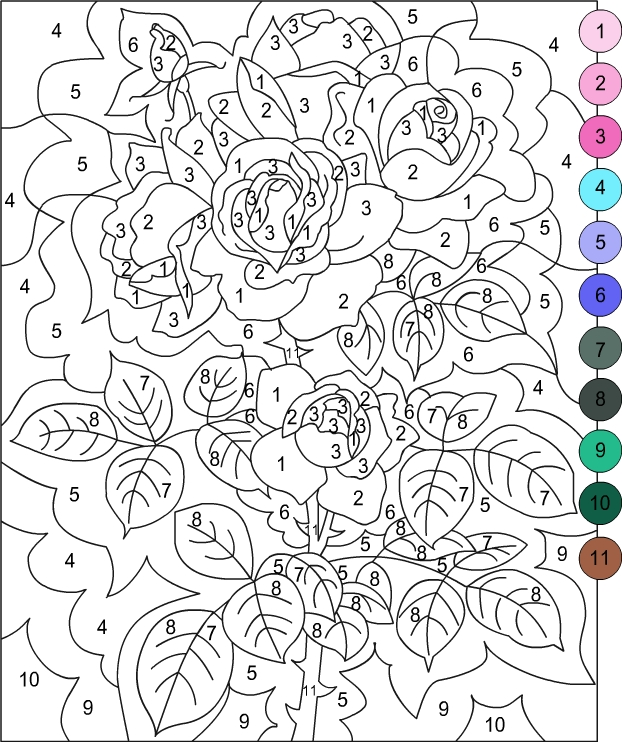 Epic image intended for free printable color by number for adults