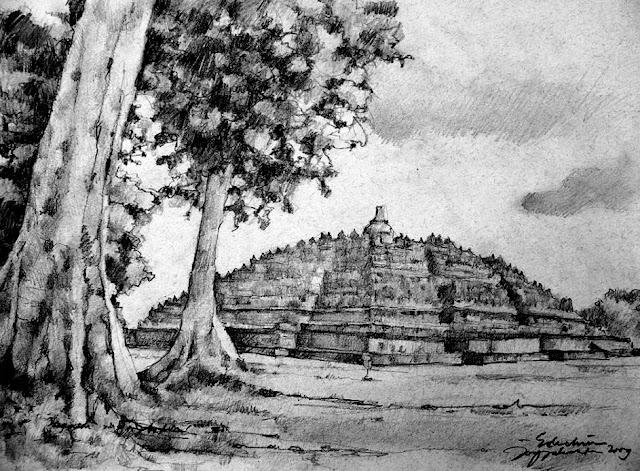 Sketsa Candi Borobudur