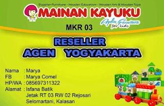 Reseller Mainan Kayuku Yogyakarta Marya