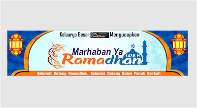 Template Banner Ucapan Marhaban Ya Ramadhan 1441 H