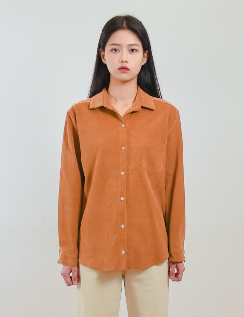 Corduroy Button-Up Shirt