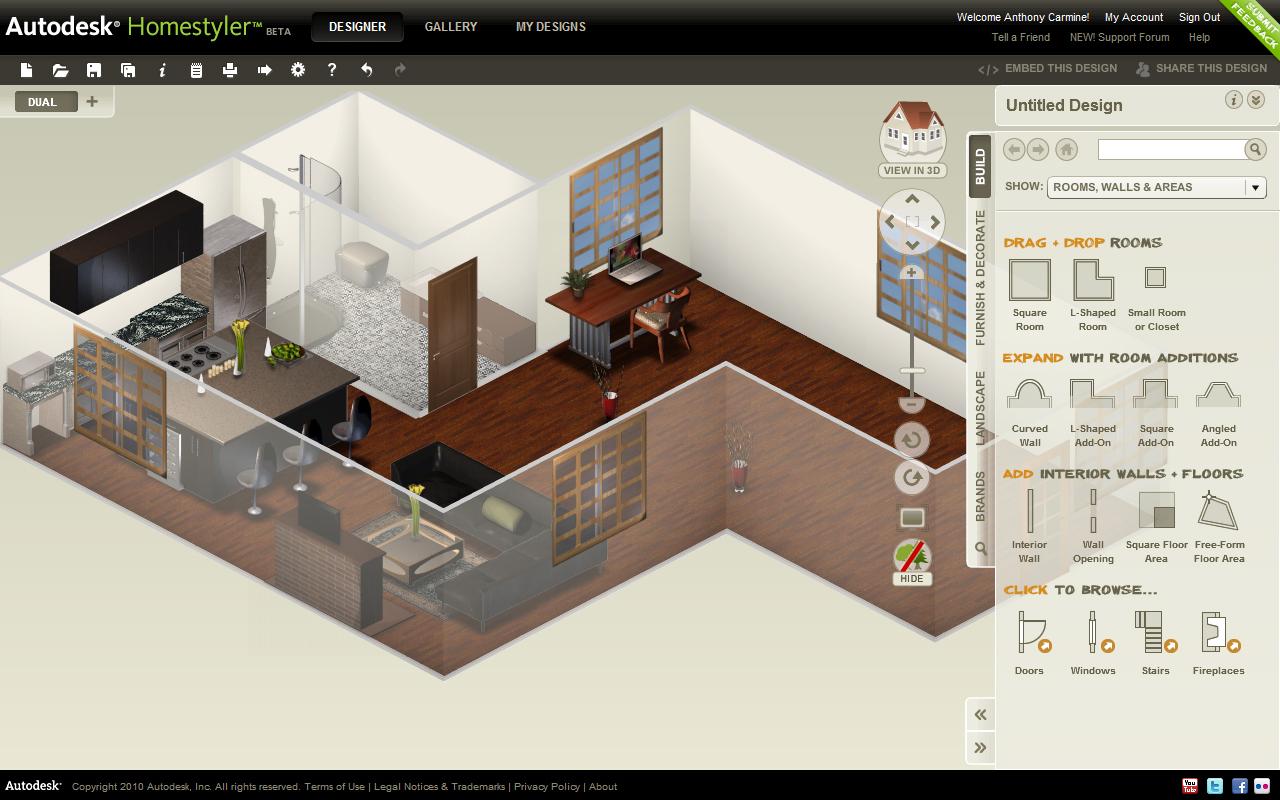 Arquirehab autodesk homestyler aplicaci n gratuita on for Disegnare progetto casa