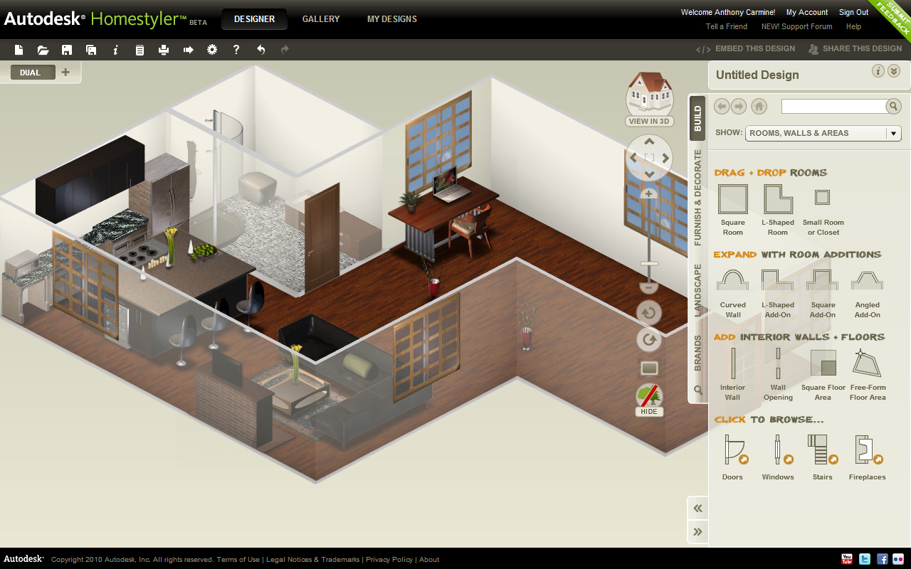 Arquirehab autodesk homestyler aplicaci n gratuita on for Disegnare casa online gratis