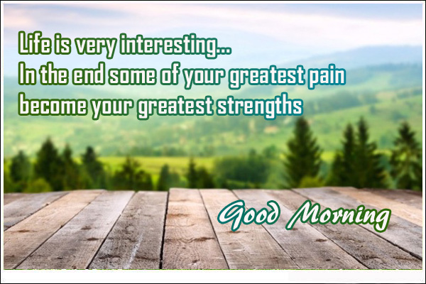good morning quotes of forest trees
