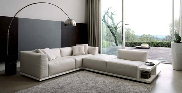 Salas modernas con elegantes muebles ideas para decorar for Decoracion de casas modernas y elegantes