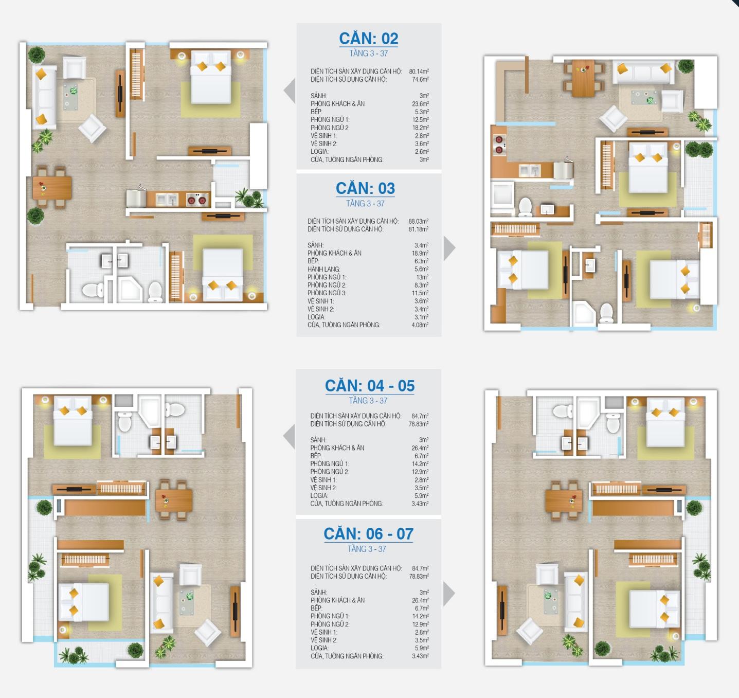 10 kiểu thiết kế diện tích căn hộ FLC Star Tower (1)