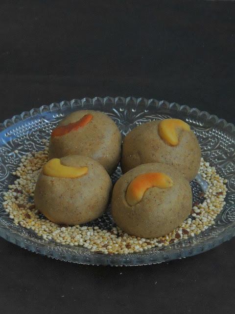 Quinoa flaxseed laddoos, Quinoa balls