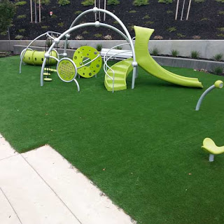 Greatmats artificial playground turf with padding