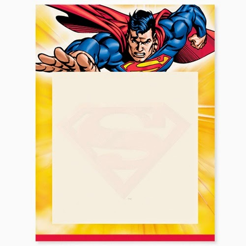 Justice League Invitations Free: Superman Free Printable Invitations, Frames Or Cards.