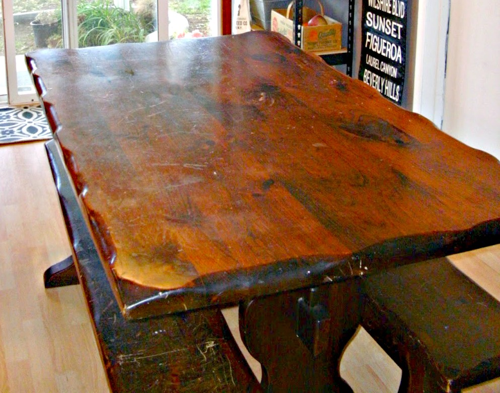 I Originally Purchased This Vintage Trestle Table From A Local 2nd Hand  Store For My Dining Room But Itu0027s Just Too Big For My Small Dining Room.