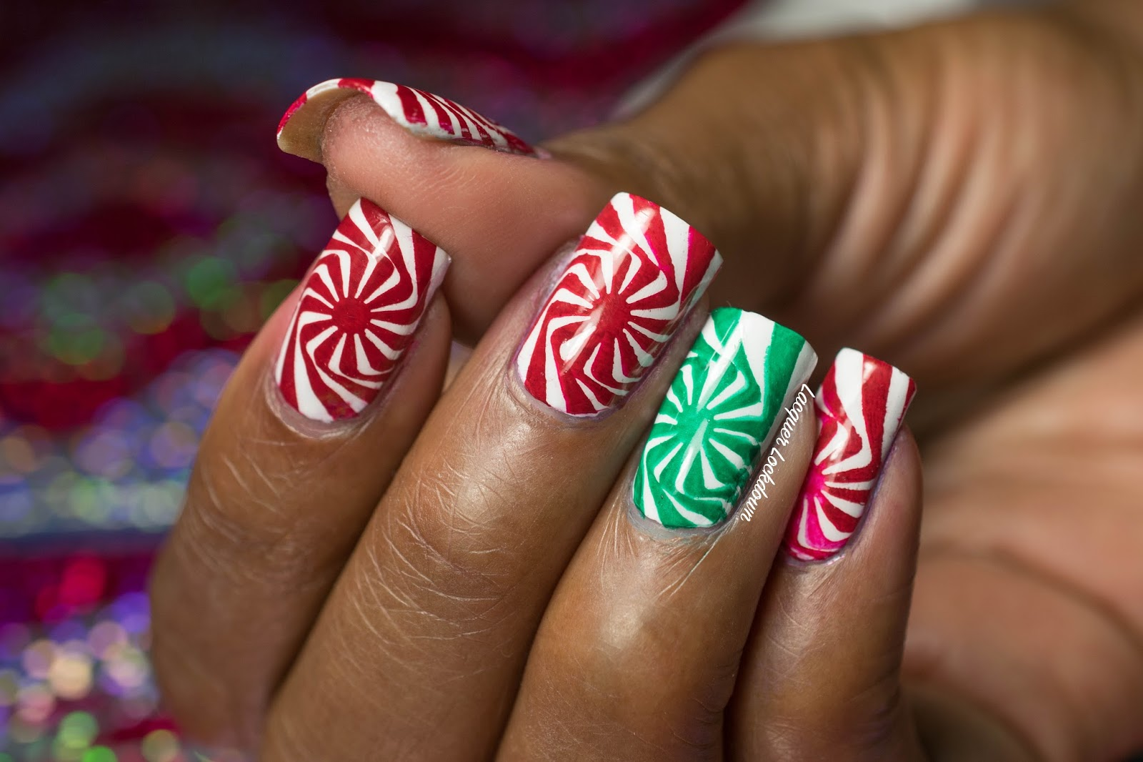 Lacquer Lockdown Christmas Simples Moyou London Candy Cane Swirl