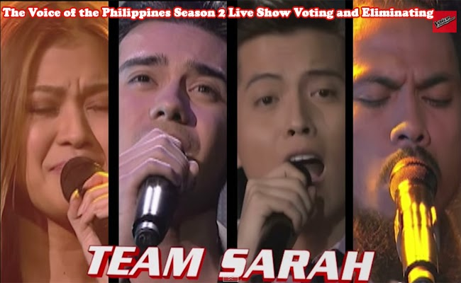 The Voice of the Philippines Season 2 Live Show Voting and Eliminating Team Sarah Part 2 February 7, 2015