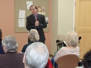 Register O'Donnell was Guest Speaker at Franklin Senior Center