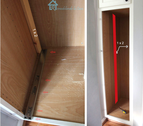 Installing slides in pantry