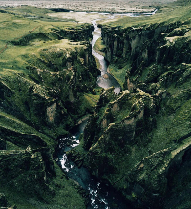 32 Stunning Places on Earth You Should Visit Before You Die - Canyon Fjaorargljufur, Iceland