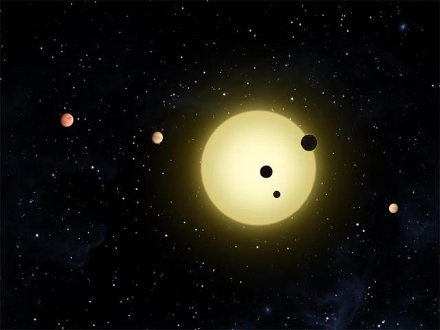 kepler exoplanetas - ilustração