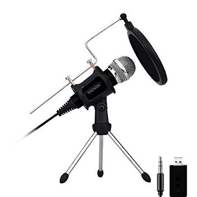 Xiaokoa Studio Desktop Mic with Condenser - Mini Recording Microphone