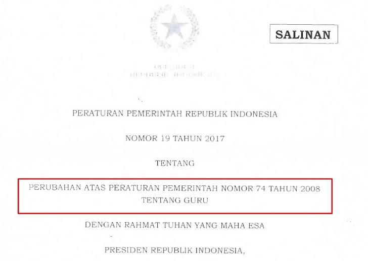 "Pada PP Nomor 19 Tahun 2017, Kepala Sekolah ""Tidak Perlu Mengajar"" dan Beban Kerja Guru Max 40 Jam"