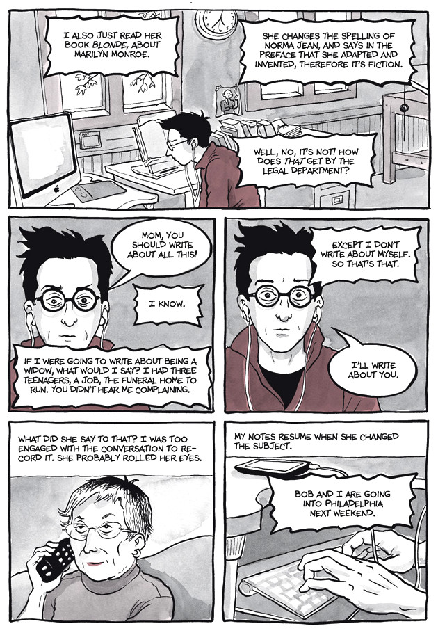 Page 29, Chapter 2: Transitional Objects from Alison Bechdel's graphic novel Are You My Mother