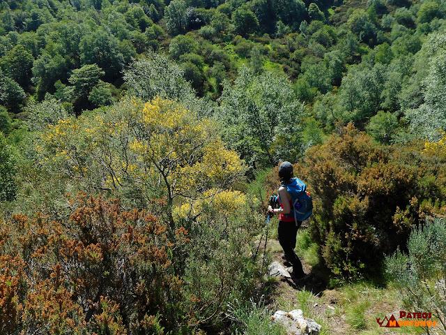 Descenso al fondo del valle río Cuevas