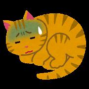 病気の猫のイラスト(ペット)