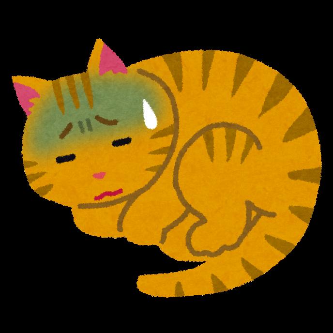 病気の猫のイラスト(ペット) | かわいいフリー素材集 いらすとや