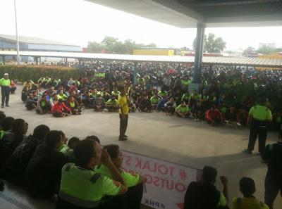 Suasana Aksi Solidaritas save ketua umum splinfox