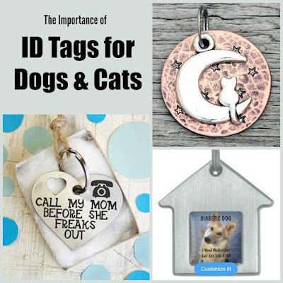 Would you freak out if your pet went missing? Get one of these customizable dog or cat ID tags!