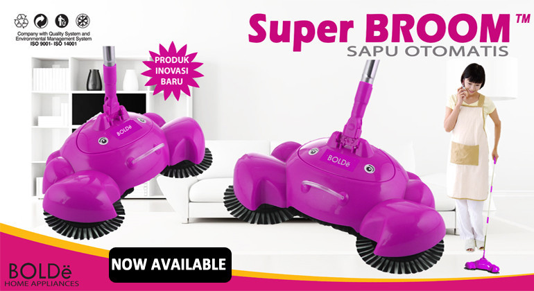 Jual Alat Sapu Otomatis Super BROOM Bolde