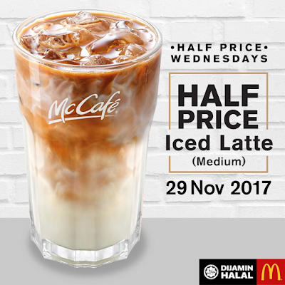 McCafe Iced Latte Half Price Discount Promo