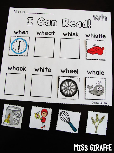 Digraphs worksheets and activities that practice the WH digraph sound in hands on fun ways