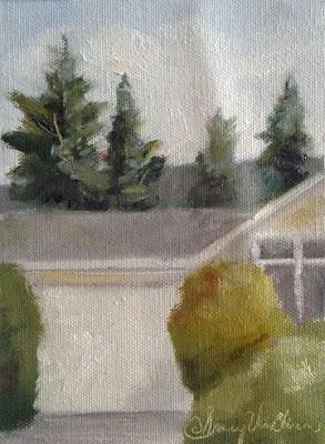 On The Street Where I Live - oil on canvas-NVanBlaricom