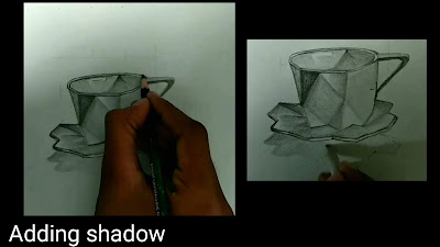 Adding shadow for cup and saucer