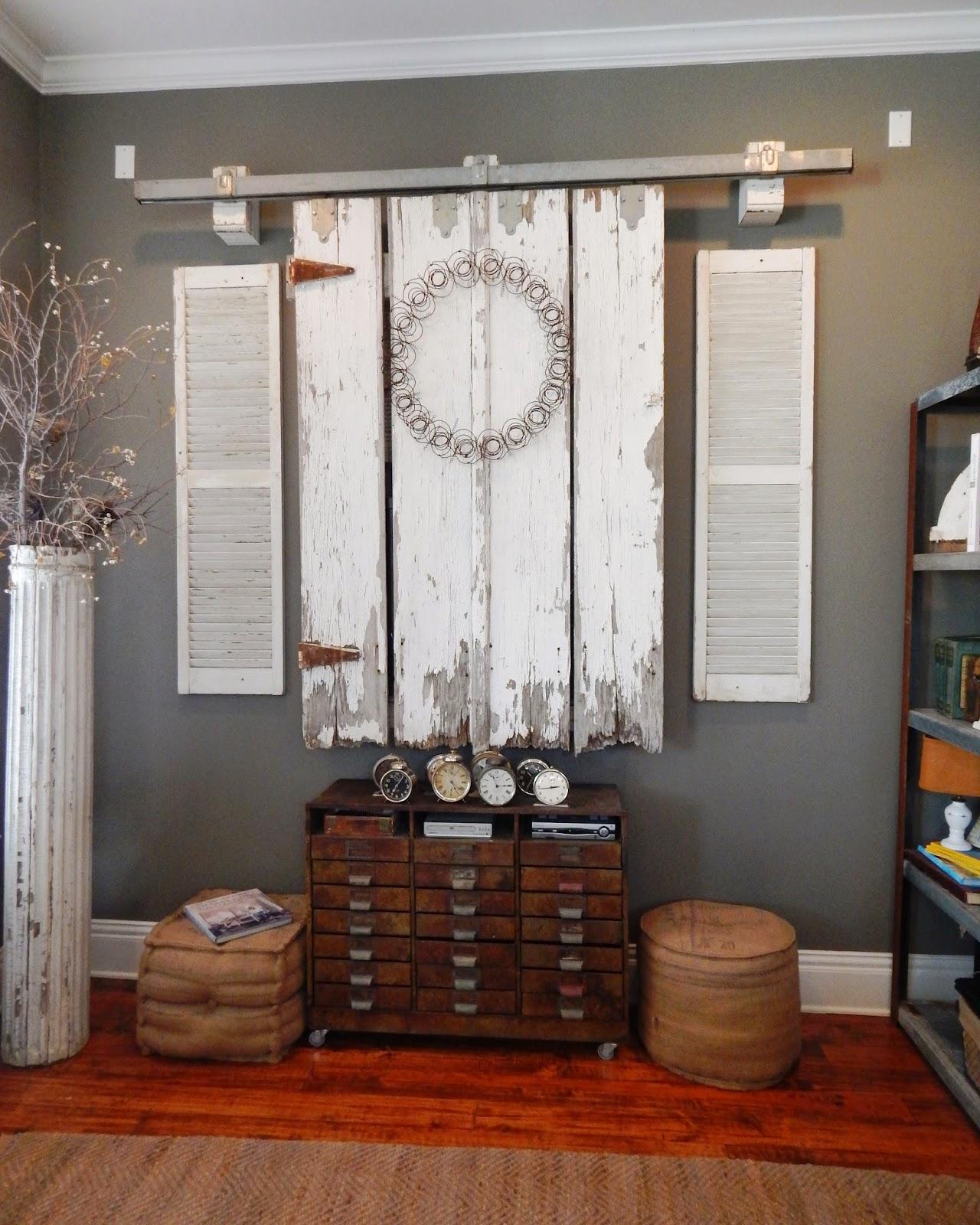My Romantic Prairie Home Barn Doors In The Den