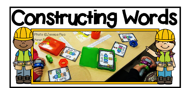 Constructing Words CVC Word Building Station, Planet Happy Smiles