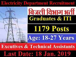 Electricity Distribution Department Recruitment 2019