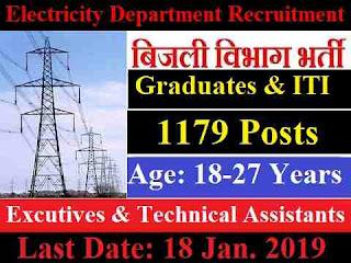 Electricity Distribution Department Recruitment 2019