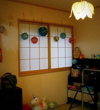 紙風船の飾り
