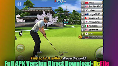 Play against golfers all over the world