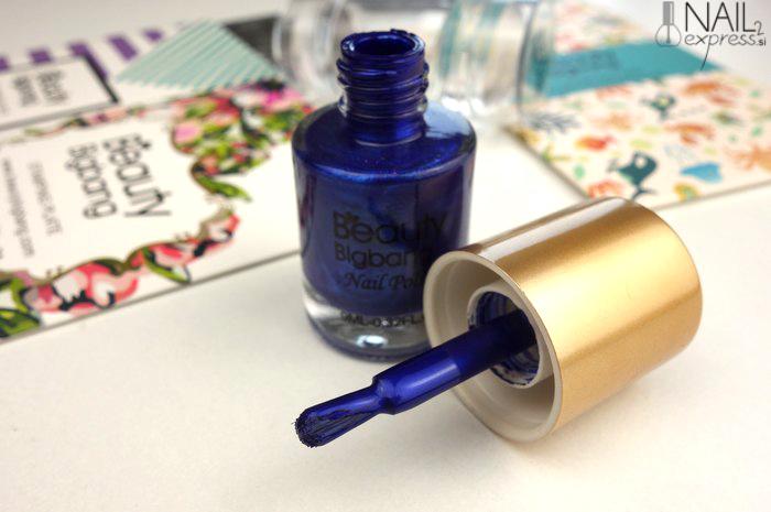 Beauty Big Bang_Shimmer Royal Blue nail stamping polish