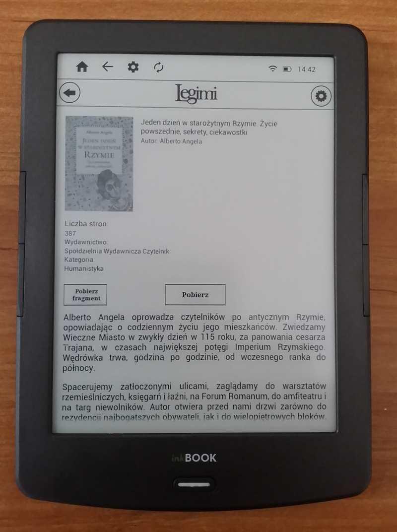 Ekran opisu ebooka w aplikacji Legimi