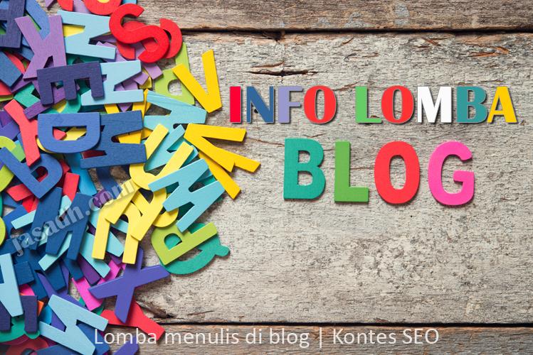 Info lomba blog dan kontes SEO 2019