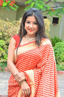 Sakshi Agarwal  in Orange Saree at Inauguration of Handloom And Handicraft exhibition ~  Exclusive 16.JPG