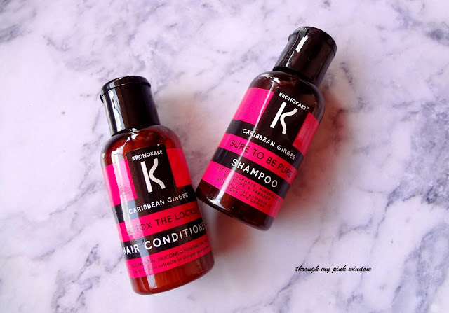 Review of Krokokare Caribbean Ginger Sure to Pure Shampoo and Detox and locks conditioner.